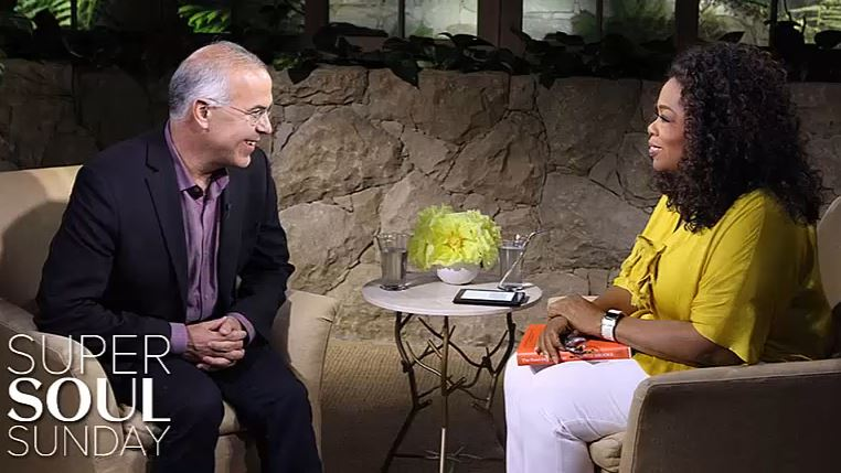 David Brooks w/ Oprah photo
