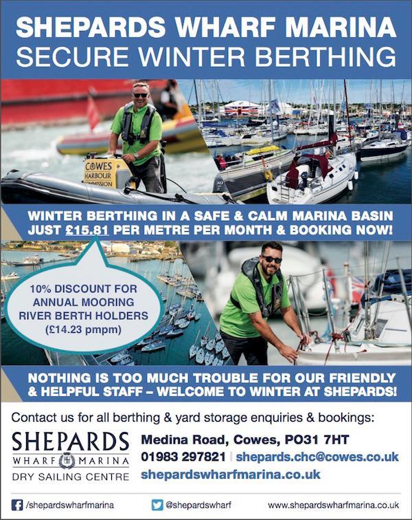 Winter berthing at Shepards - discount to annual mooring river berth holders