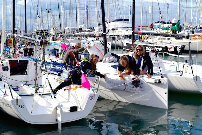 Round the Island Race preparations at Shepards Marina