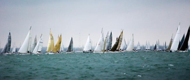 Round the Island Race start 2017 Copyright Paul Wyeth