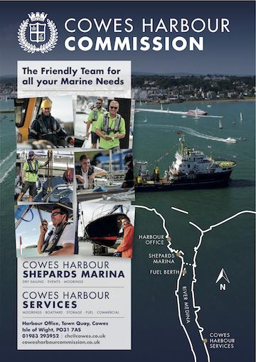 Cowes Harbour Commission advert