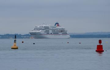 MS Europa off Cowes