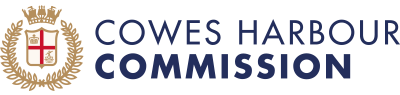 Cowes Harbour Commission logo coloured crest