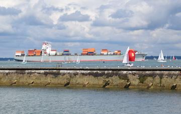 Commercial ship in the Solent