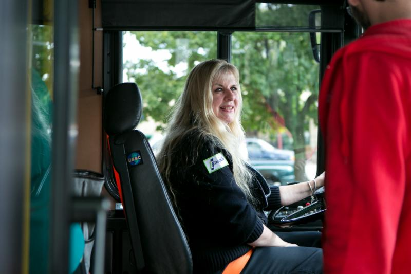 photo of bus driver