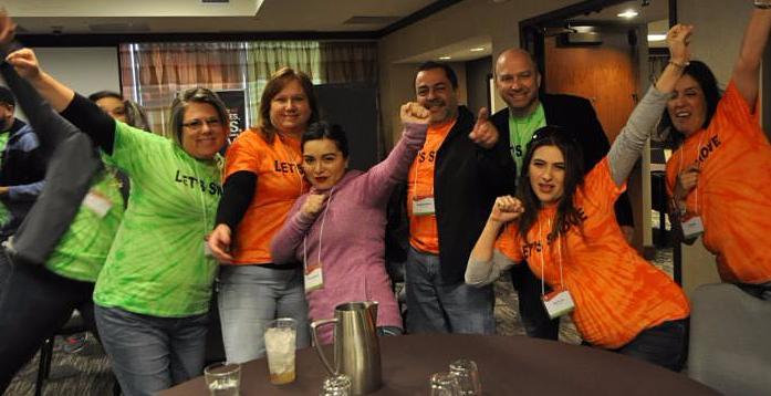 International Realty engage in team building in San Antonio.