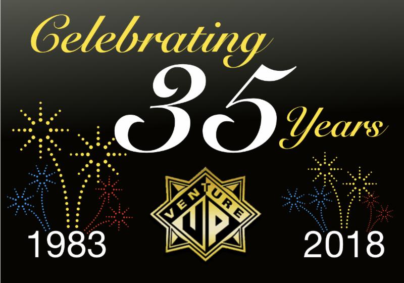 VENTURE UP Logo - 35 Years - 1983-2018