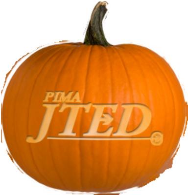 JTED carved pumpkin