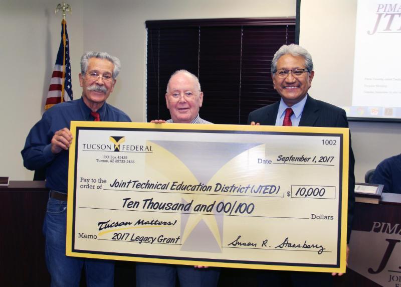 Tucson Federal Credit Union big check presentation