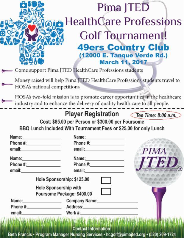 golf tournament registration form