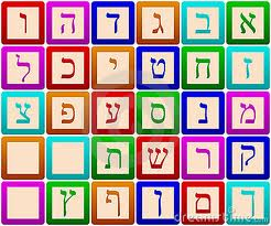 Hebrew letter blocks