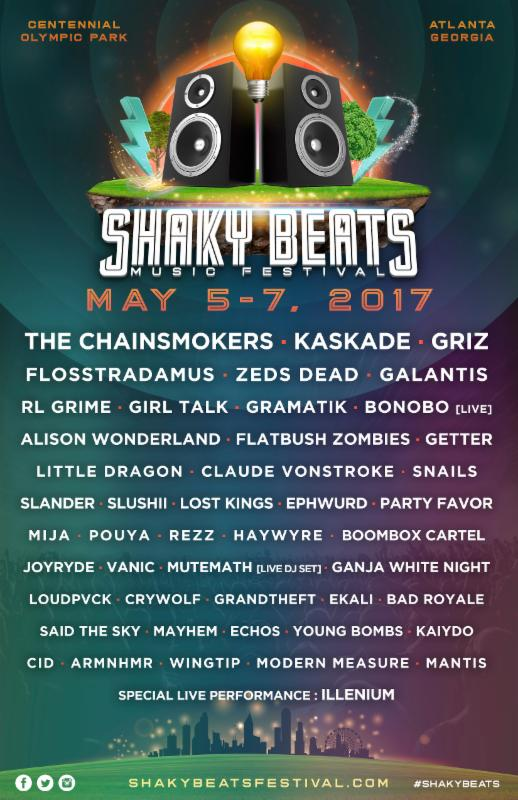 The Shaky Beats Music Festival lineup for 2017