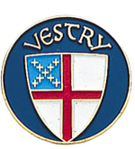 Vestry Lapel Pin trimmed