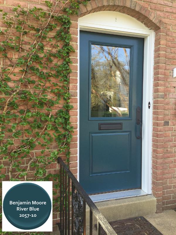 Donna's Front Door in Benjamin Moore River Blue