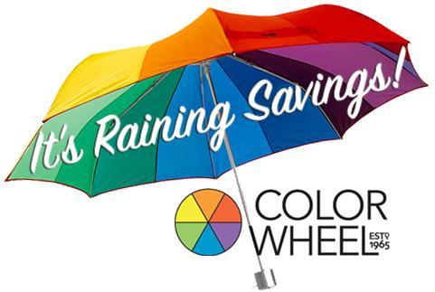It's Raining Savings at Color Wheel Custom Framing Department