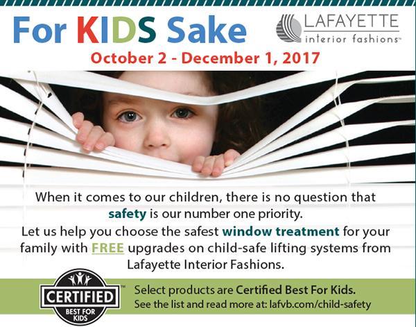 Lafayette Interior Fashions Child Safety