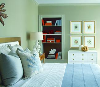 Bedroom in Benjamin Moore Pashmina Paint
