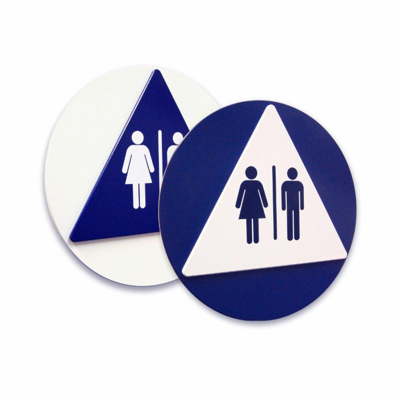 Geometric Restroom Signs