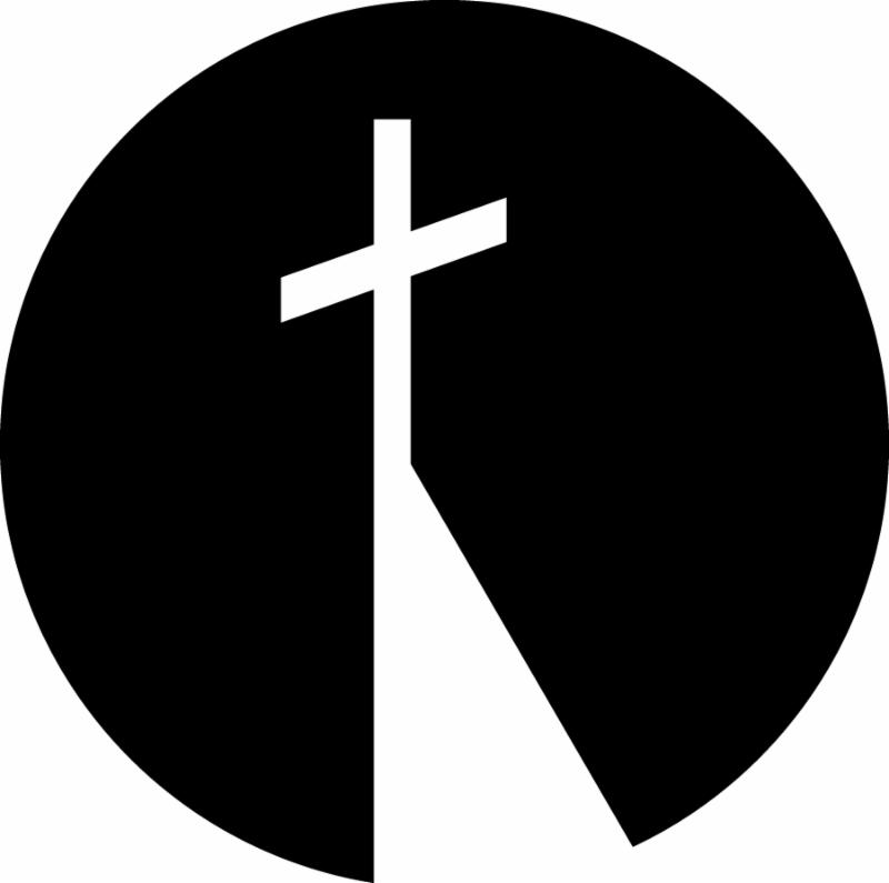 white cross within black circle_ logo of the Benedictine Center of St. Paul_s Monastery