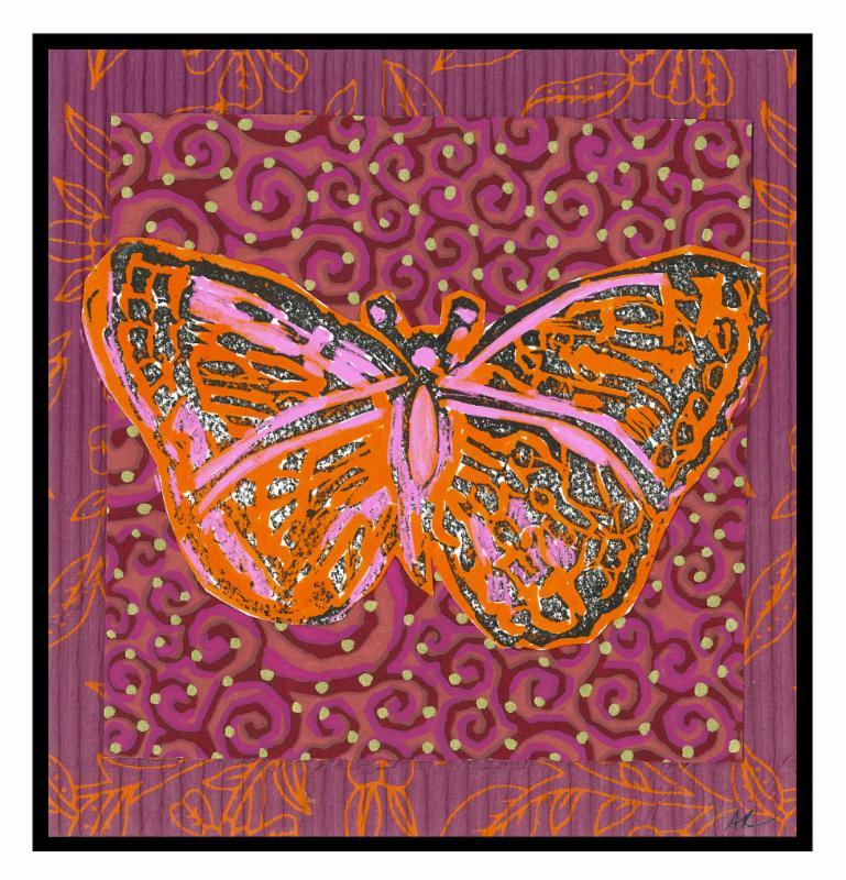 Red Calendar Butterfly
