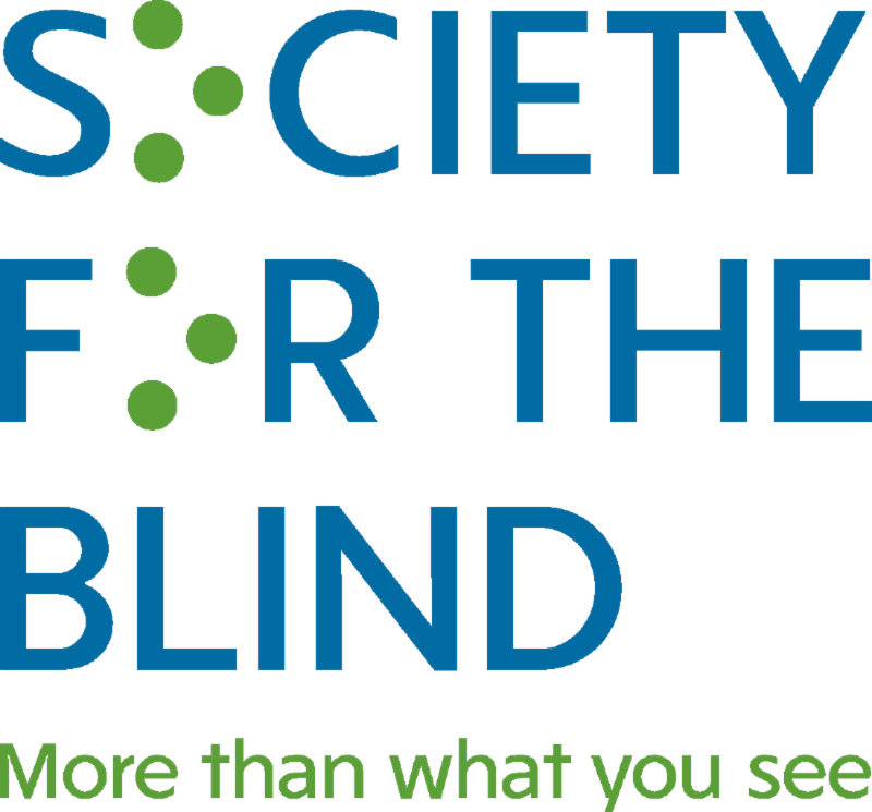 Graphic of Society for the Blind logo