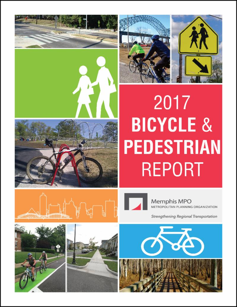 Cover page of the Memphis MPO's 2017 Bicycle and Pedestrian Report