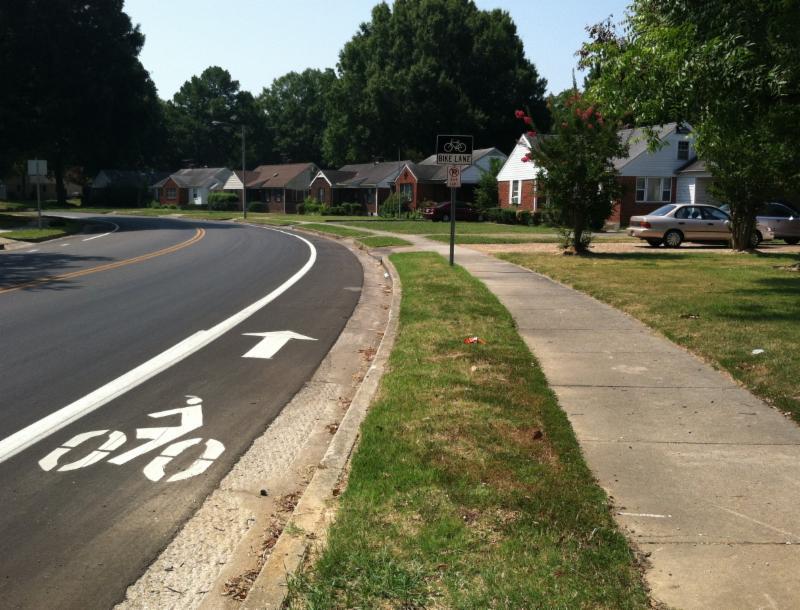 neighborhood bike path
