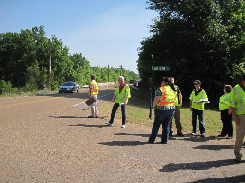road workers with safety vests