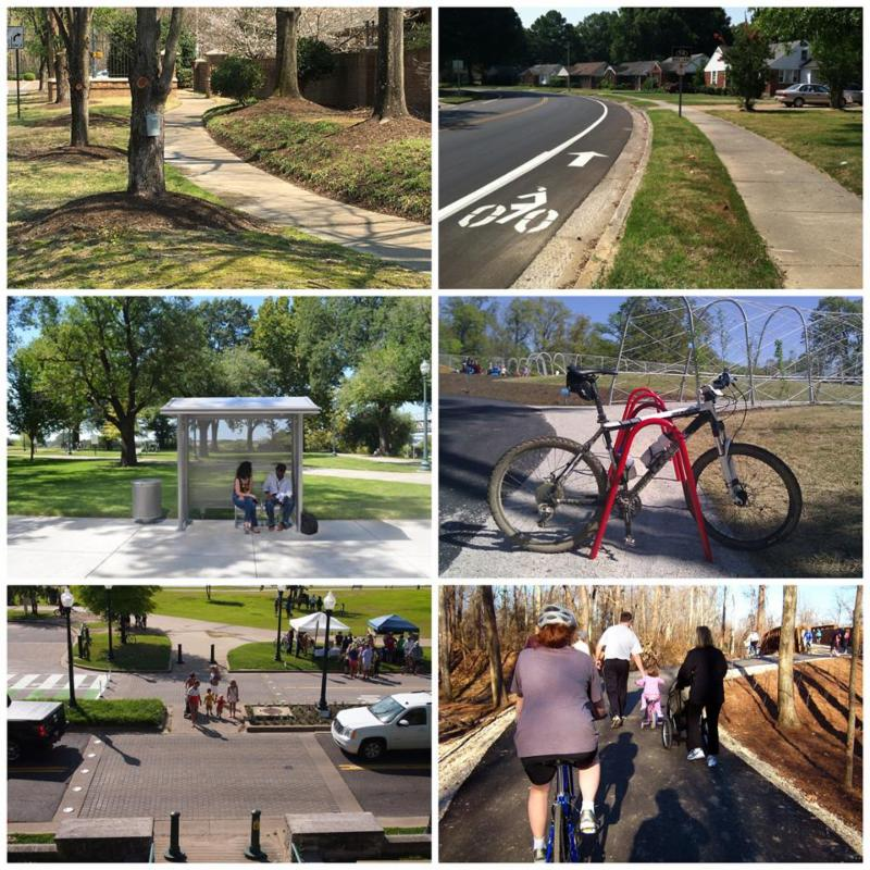 biking collage