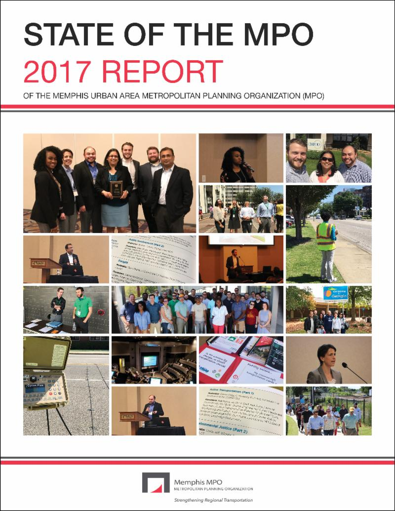 Cover page of the Memphis MPO's 2017 State of the MPO Report