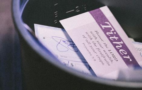 Photo of tithing evnvelopes