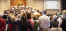 Photo of a worship service