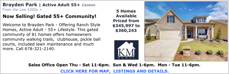 New homes in Canton at Brayden Park by KM Homes.