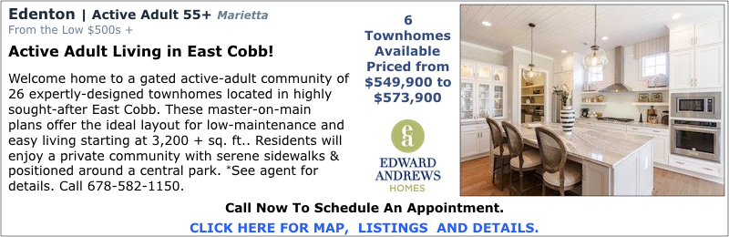 New Homes in Marietta at Edenton by Edward Andrews Homes.
