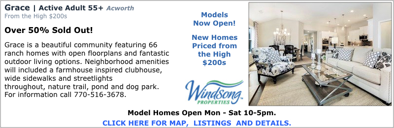 New Homes in Acworth at Grace by Windsong Properties.