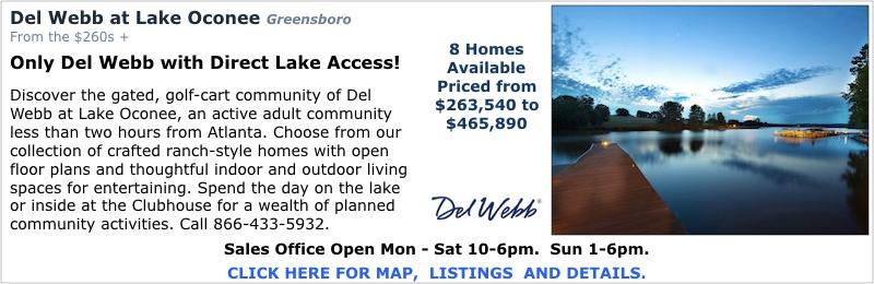 New Homes in Greensboro at Del Webb at Lake Oconee by Del Webb.