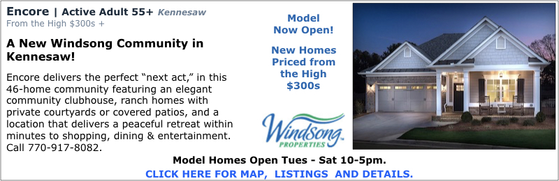 New Homes in Kennesaw at Encore by Windsong Properties.