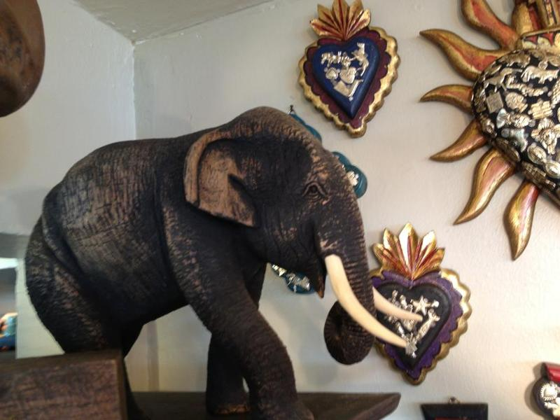 Reclaimed Carving of an Elephant from Teak