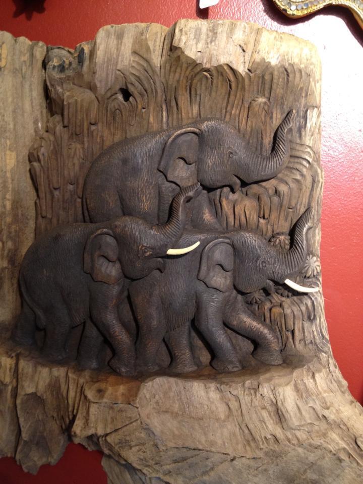 Reclaimed Teak Elephants