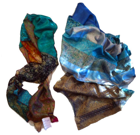 silk scarf made from nemnants