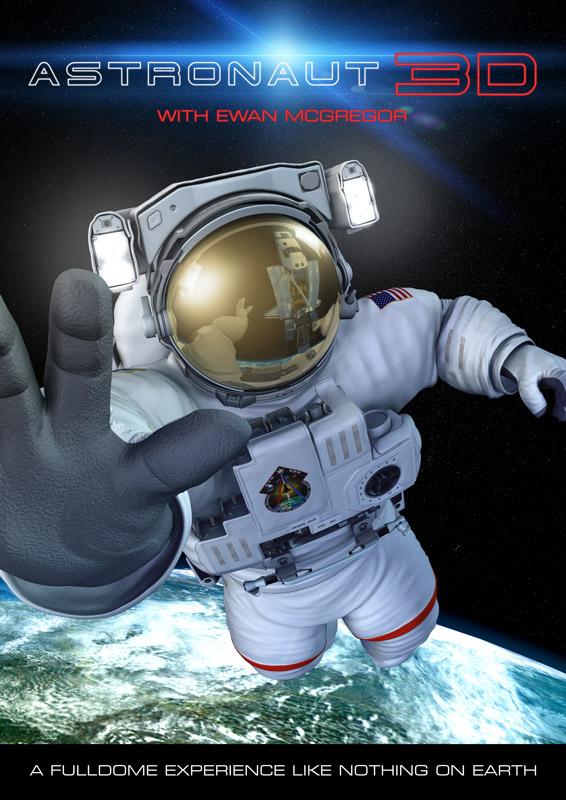Astronaut 3D poster
