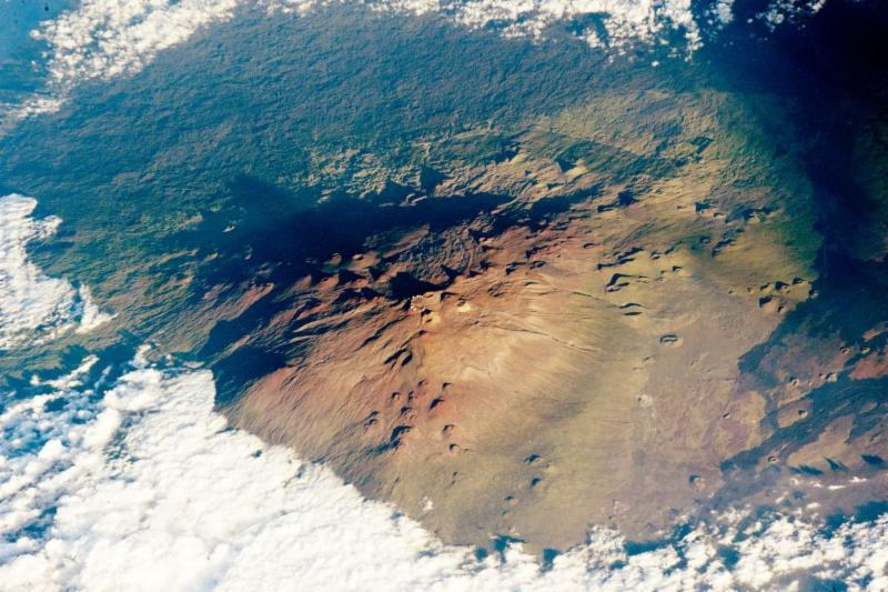 Maunakea taken from ISS