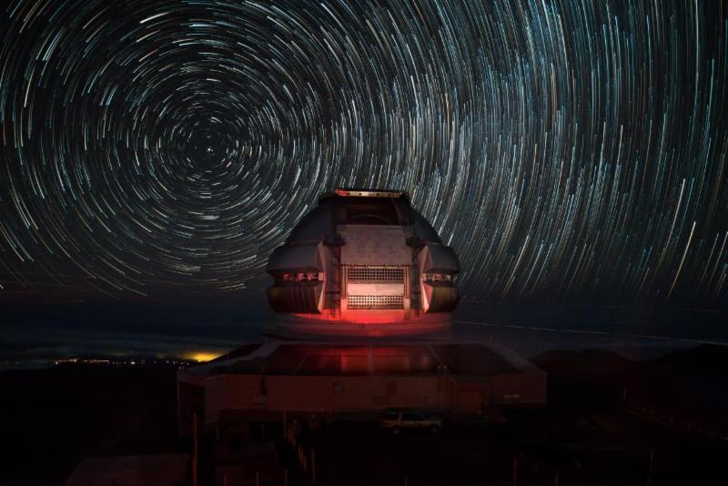 Maunakea Star trails over Gemini North