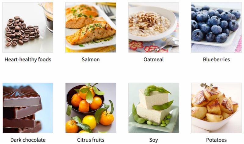 1-8 heart healthy foods