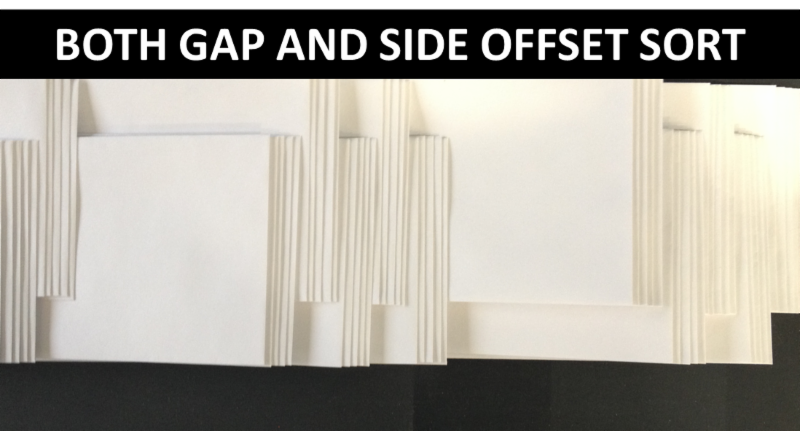 Both gap and side offset sort
