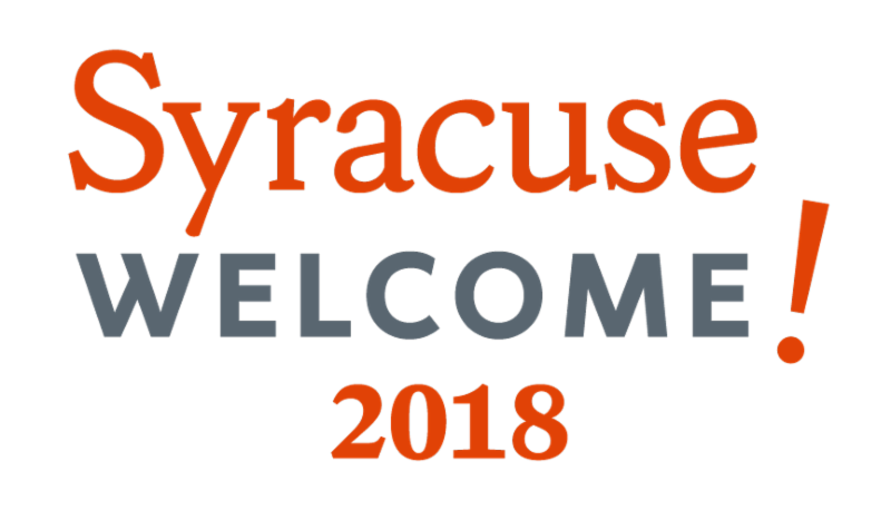 Syracuse Welcome 2018 logo