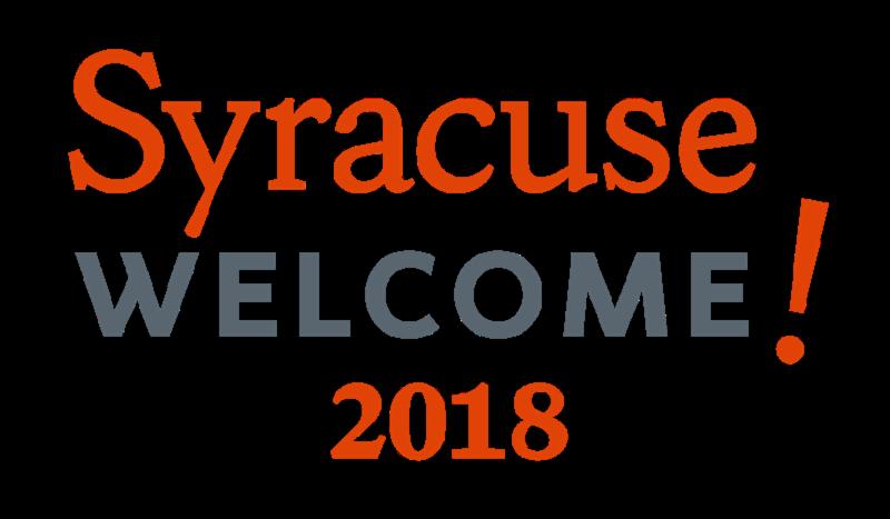 Syracuse Welcome 2018 logo