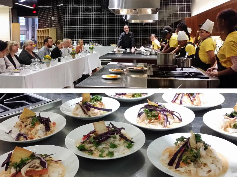 Image of Junior Chefs_ ages 11-14_ about to cook_ and the delicious_ healthy food they created_