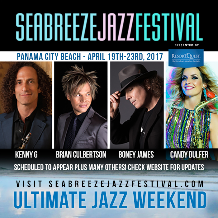 Seabreeze Jazz Festival April 19th – 23rd at Panama City Beach ………