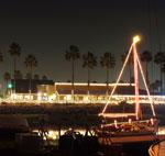 Xmas Lights with Sailboat